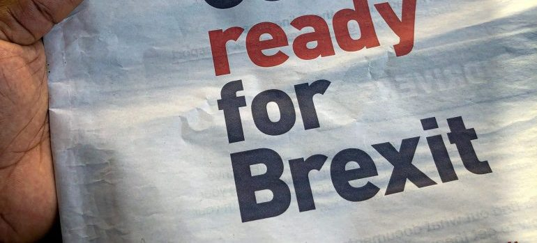 Get ready for Brexit title in a newspaper