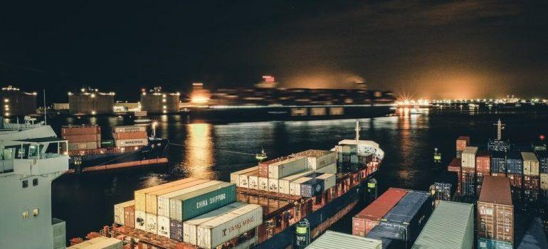 Cargo in port