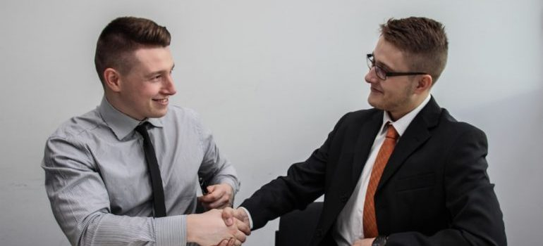 Two men making a deal