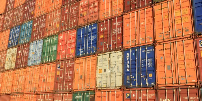A picture of containers ready for shipping