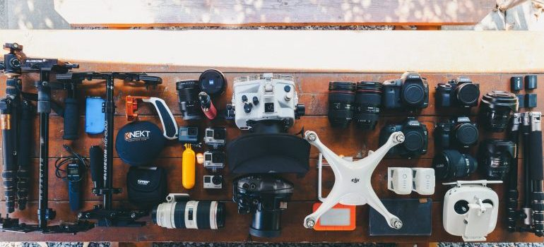 a table full of gadgets you cannot entrust to just anyone