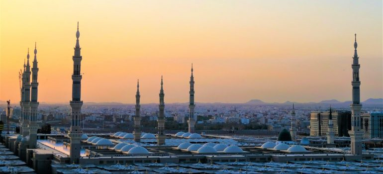 rooftops of buldings in the Medina Region as something to see first in KSA as a tourist