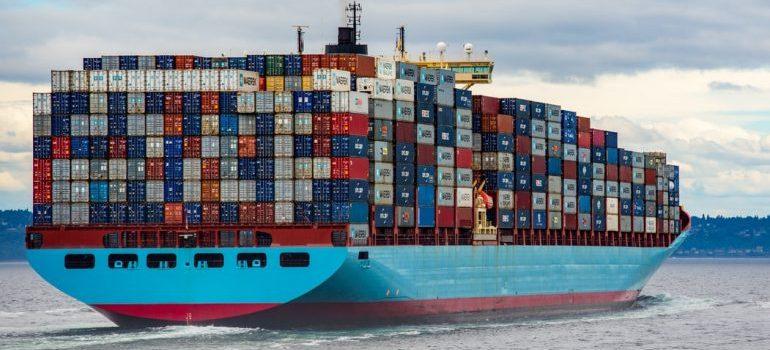 A cargo ship full with cargo