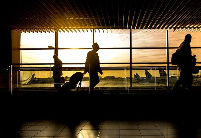 Man on an airport