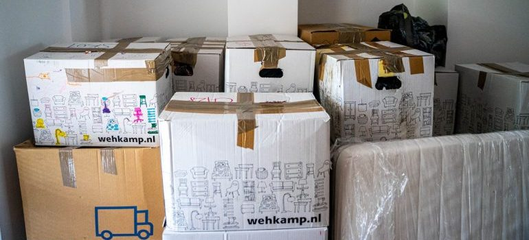 Boxes are number one on the list of essential packing supplies for moving abroad