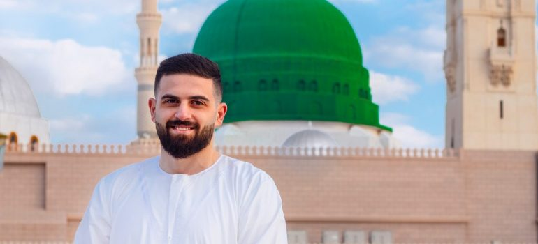 An Arab guy smiling