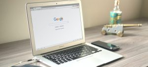 laptop and google