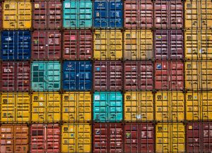 Sorted cargo containers