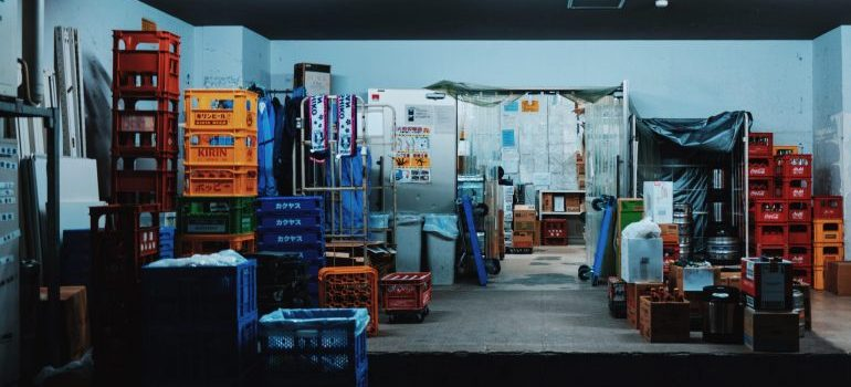 inside of a storage facility