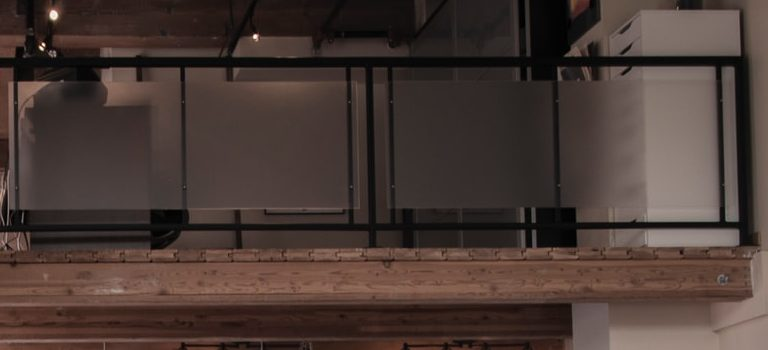 Mezzanine floor inside a home