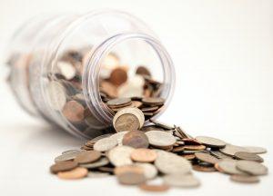A jar with money