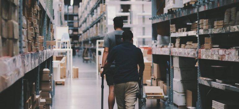Men in the warehouse